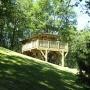 Verhuur glamping houten cabane in de Midi-Pyrenees - Occitanië Ariege, Frankrijk : buitenkant