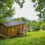Verhuur glamping houten cabane in de Midi-Pyrenees - Occitanië Ariege, Frankrijk : midden in de natuur
