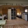 Glamping locatie safaritent Lodge Nature in de Midi-Pyrenees - Occitanië, Ariege, Frankrijk : binnen