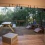 Verhuur van glamping Lodge tent in de Midi-Pyrenees - Occitanië, Ariege, Frankrijk : terras