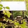 Verhuur glamping Lodge tent Luxe in de Midi-Pyrenees - Occitanie, Ariege, Frankrijk : in het bos
