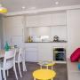 Verhuur stacaravan luxe frankrijk midi pyrenees occitanie ariege 6 personen keuken uitsicht