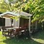Lloguer bungalou Somni a Migdia Pirineus – Occitània, Arieja: vista taula pícnic
