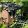 Alquiler bungaló de madera Descanso en Mediodía-Pirineos - Occitania, Ariège: detrás