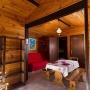 Alquiler bungaló de madera Green en Mediodía-Pirineos - Occitania, Ariège: sala de estar