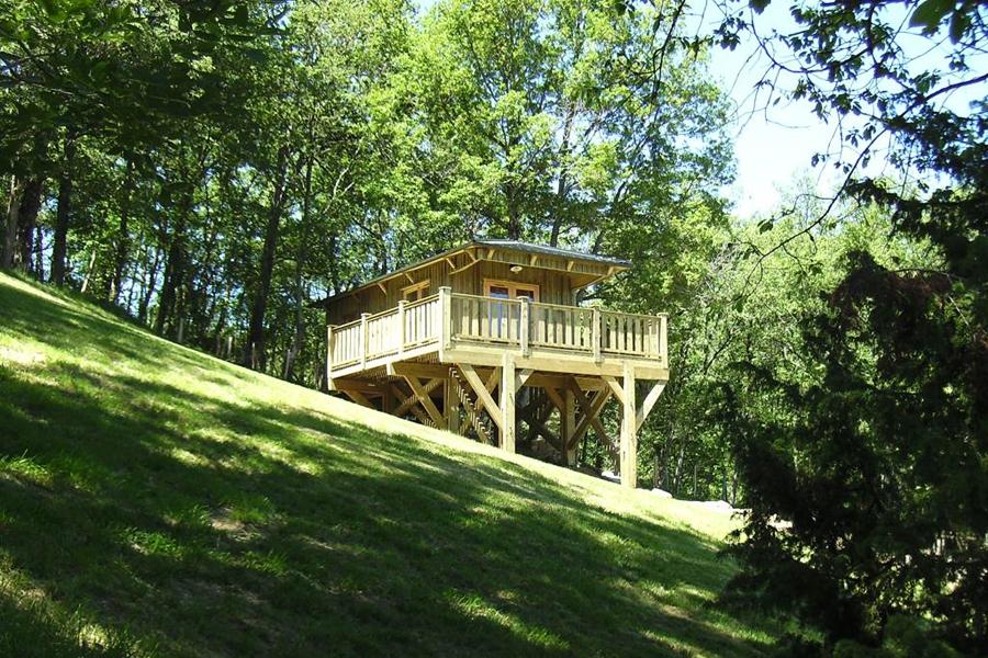 Alquiler glamping cabaña de madera en Mediodía-Pirineos - Occitania, Ariège: exterior