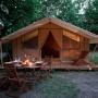 Alquiler glamping tienda Cotton Lodge natura en Mediodía-Pirineos - Occitania, Ariège: aperitivo vacaciones