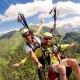 Paragliding  in de Ariège, Midi-Pyrénées Occitanië