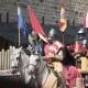 Riddergevechten in de middeleeuwse cité van Carcassonne in Occitanië