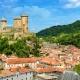 Kasteel van Foix in de Midi-Pyrénées Occitanië