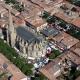 Kathedraal Saint-Maurice van Mirepoix in de Ariège, Midi-Pyrénées Occitanië