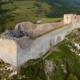 Château cathare de Montségur en Midi-Pyrénées Occitanie © Cheeky
