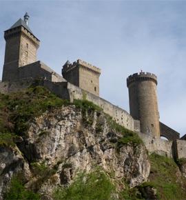 Medieval castle foix ariege france