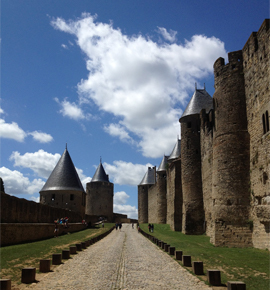 French city of Carcassonne on the UNESCO World Heritage List