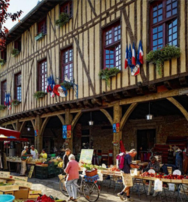 Mirepoix city of Art and History in Midi-Pyrenees France