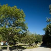 De zon schijnt altijd op de camping in Occitanië