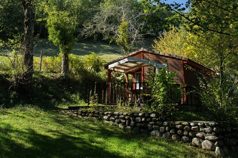 Relaxation wooden chalet rental in France, Midi-Pyrenees - Occitanie, Ariege : in the heart of nature