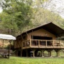 Glamping tent rental Lodge Luxury in France, Midi-Pyrenees - Occitanie, Ariege : outside for lunch