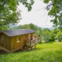 Rental glamping wooden hut in France, Midi-Pyrenees - Occitanie, Ariege : in the heart of nature