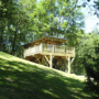 Location glamping cabane en bois en Midi-Pyrénées - Occitanie, Ariège : extérieur