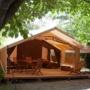 Location glamping tente Cotton Lodge Nature en Midi-Pyrénées - Occitanie, Ariège : extérieur