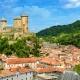 Burg Foix in der Region Midi-Pyrenees Okzitanien
