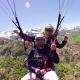 Flugtaufe mit einem Gleitschirmflieger in der Region Ariege Okzitanien