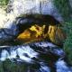 Die Fontaine von Fontestorbes in Ariege, Okzitanien