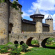 Carcassonne medieval city on UNESCO World Heritage List in Occitania Midi-Pyrenees, France
