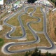 Aerial view of the international karting circuit of Lavelanet in Ariège Occitanie