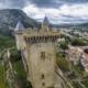 Foix castle in Ariege, Midi-Pyrenees Occitanie, France © Stéphane Meurisse