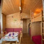 Glamping Holzhütte vermietung in Frankreich, in der Region Midi-Pyrenees - Okzitanien, Ariege: Innenansicht