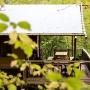 Glamping zelt lodge vermietung safari woodlodge xl luxus frankreich midi pyrenees okzitanien ariege im wald